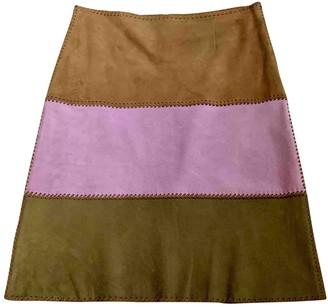 Celine Beige Suede Skirt for Women Vintage