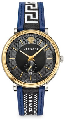 Versace Greco Edition V-Circle Two-Tone Chronograph Watch