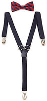 Class Club Striped Bow Tie & Suspenders Set
