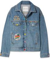 Mira Mikati Venice Beach Appliquéd Denim Jacket - Mid denim