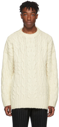 Juun.J Off-White Cable Knit Sweater