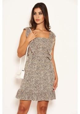 AX Paris Women's Printed Frill Mini Dress