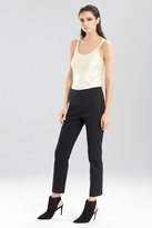 Josie Natori Double Face Solid Cotton Ankle Pant