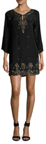 Calypso St. Barth Arji Silk Embellished Shift Dress
