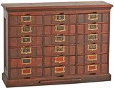 Rejuvenation 18-Drawer Maple Filing Cabinet w/ Original Labels