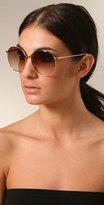Luella Oversized Gold Wire Sunglasses