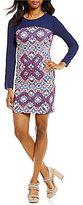 Daniel Cremieux Rayan Knit Sheath Long Sleeve Dress
