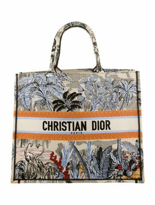 Christian Dior 2019 Embroidered Book Tote
