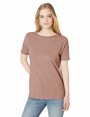 Daily Ritual Amazon Brand Women's Lightweight Lived-In Cotton Short-Sleeve Drop-Shoulder Tunic