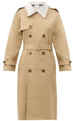 Vetements Cutout Gabardine Trench Coat - Beige