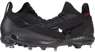 Mizuno Pro Dominant Knit Metal Baseball Cleat (Black) Men's Shoes