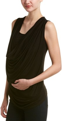 Everly Grey Women's Maternity Carla Sleeveless Cowl Neck and Nursing Top