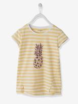 Vertbaudet Girls Pineapple Print T-Shirt