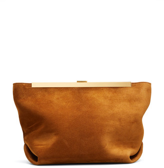 KHAITE Augusta Suede Envelope Clutch Bag