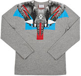 Marcelo Burlon County of Milan Elephant-Graphic T-Shirt-GREY