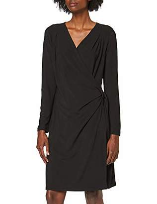 Yumi Ruched Wrap Jersey Dress With Hardware
