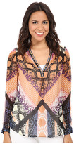 Hale Bob Garden Of Eden Long Sleeve Blouse