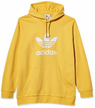 adidas Men's Trefoil Warm-Up Hoodie Core Yellow X-Large