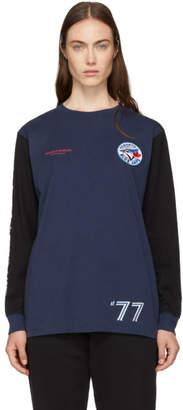 Marcelo Burlon County of Milan Blue Toronto Blue Jays Edition Long Sleeve T-Shirt