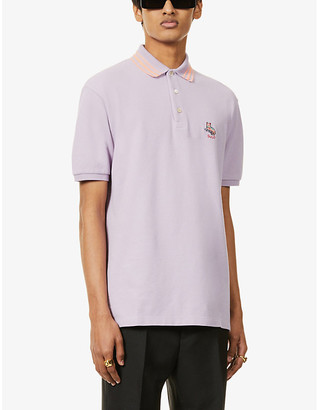 Gucci Brand-embroidered slim-fit cotton polo shirt