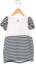 Armani Junior Girls' Striped Shift Dress