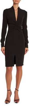 Tom Ford Georgette Shirred-Center Dress