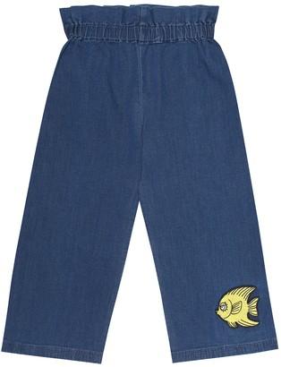 Mini Rodini Fish paperbag stretch-denim jeans