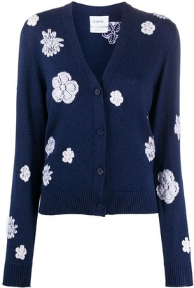 Barrie Floral Knit Cardigan