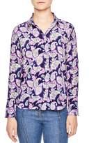 Sandro Meg Paisley Print Silk Shirt