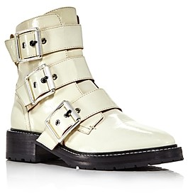 Rag & Bone Women's Cannon Buckle Patent Leather Booties