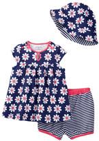 Offspring Flower Top, Short, & Hat Set (Baby Girls 12-24M)