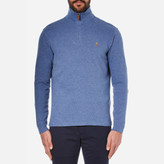 Polo Ralph Lauren Men's Quarter Zip Sweatshirt Academy Blue Heather