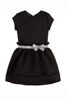 Lili Gaufrette Black Neoprene Dress