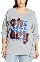 Sheego Women's Mit Druck Sweatshirt