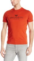 Armani Jeans Men's Regular Fit Logo Crew Neck Tee