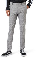 Topman Men's Check Ultra Skinny Fit Suit Trousers