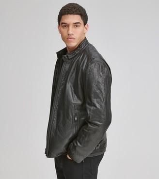 Andrew Marc   Final Sale Cafe Racer Leather Moto Jacket