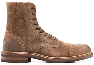 Brunello Cucinelli Ankle-Length Lace Up Boots