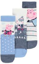 George Peppa Pig 3 Pack Assorted Socks