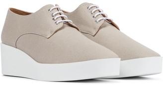 Clergerie Lindsi platform canvas Derby shoes