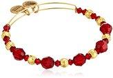 Alex and Ani Bloom Red Bangle Bracelet
