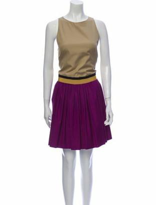 Giambattista Valli Colorblock Pattern Knee-Length Dress Purple