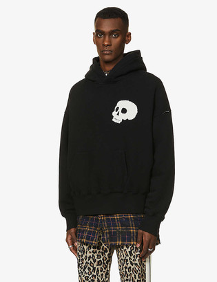 Palm Angels Skull graphic-print cotton-jersey hoody