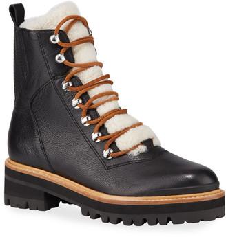 Marc Fisher Izzie Shearling Fur Hiker Boots