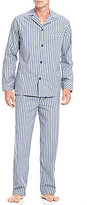 Roundtree & Yorke Woven Stripe Pajama Set