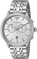 Emporio Armani Men's AR1796 Dress Silver Watch