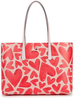 Kate Spade Molly Ever Fallen large heart-print tote