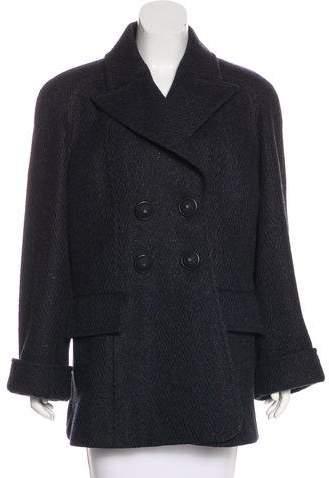Chanel 2015 Metallic Wool Coat