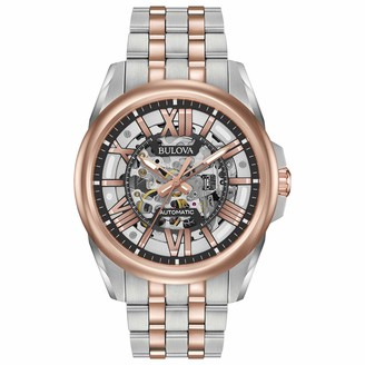 Bulova Men's Automatic-self-Wind Watch with Stainless-Steel Strap Multi (Model: 98A166)