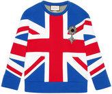 Gucci Union Jack jersey sweatshirt - women - Cotton - XXS